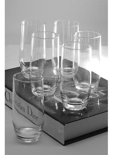 Kitchen Love 6Lı-Cam Kahve Yanı Su Bardağı Renkli